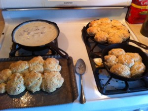 A Sunday Morning Breakfast, biscuits and gravy