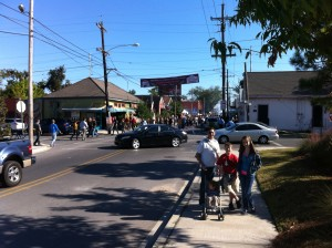 My family about to enter the crowd at the PoBoy Festival!