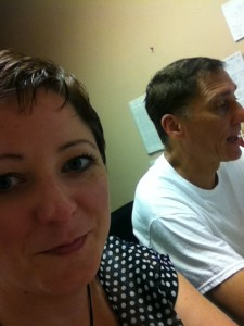 The hubs and me at work!